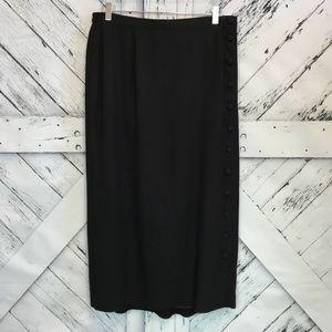 NWT Lane Bryant Button Detail Midi Skirt Size 16